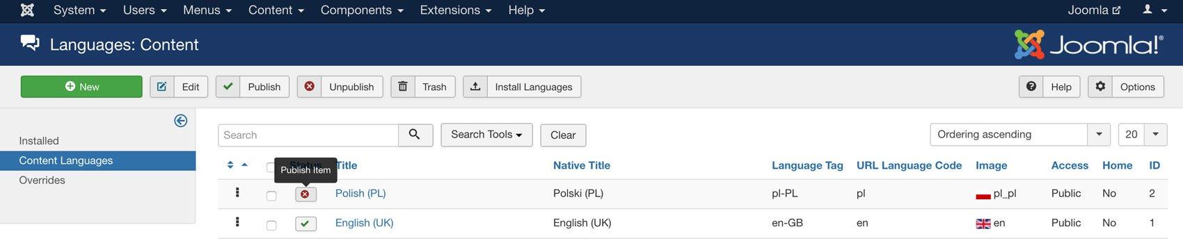 Content Languages