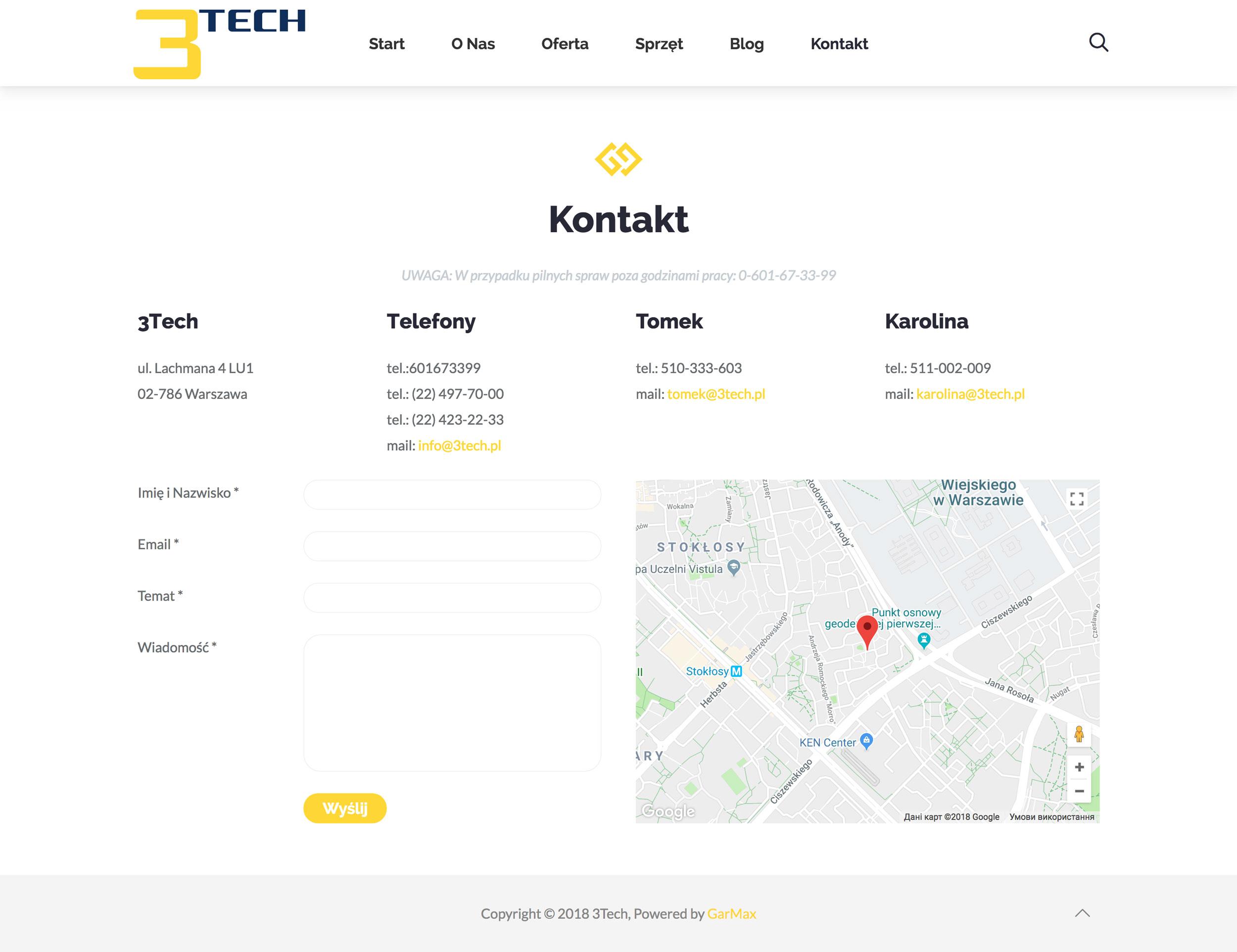 3Tech - Kontakt