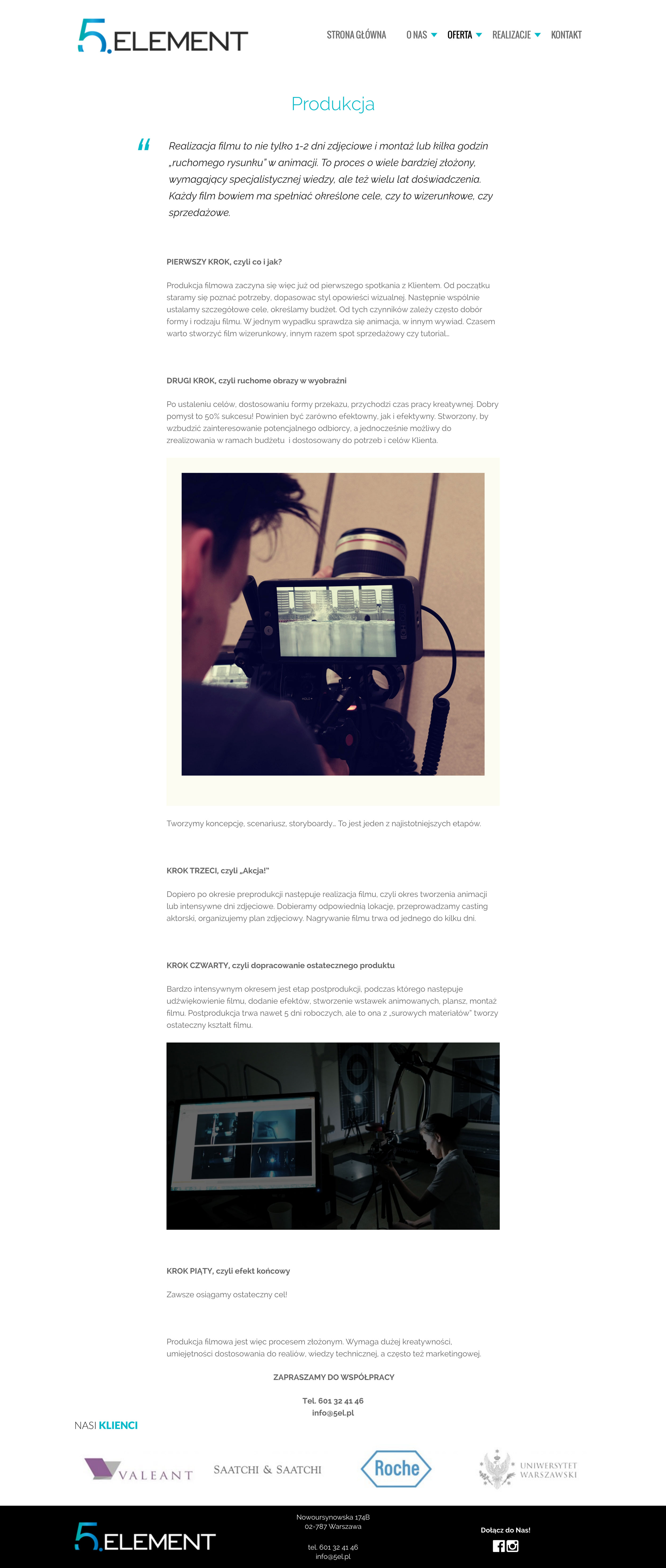 5 Element - Produkcja Filmowa