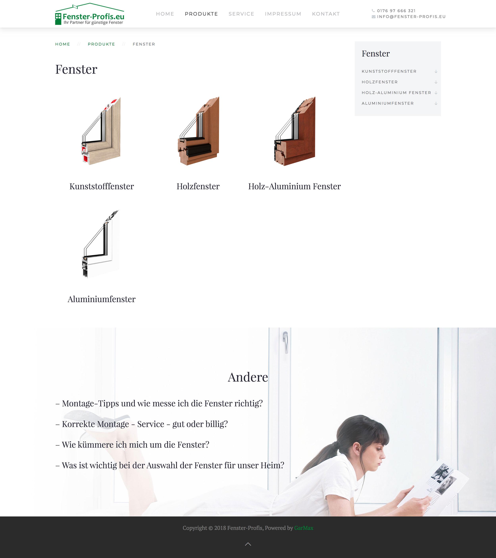 Fenster-Profis - Kategoria