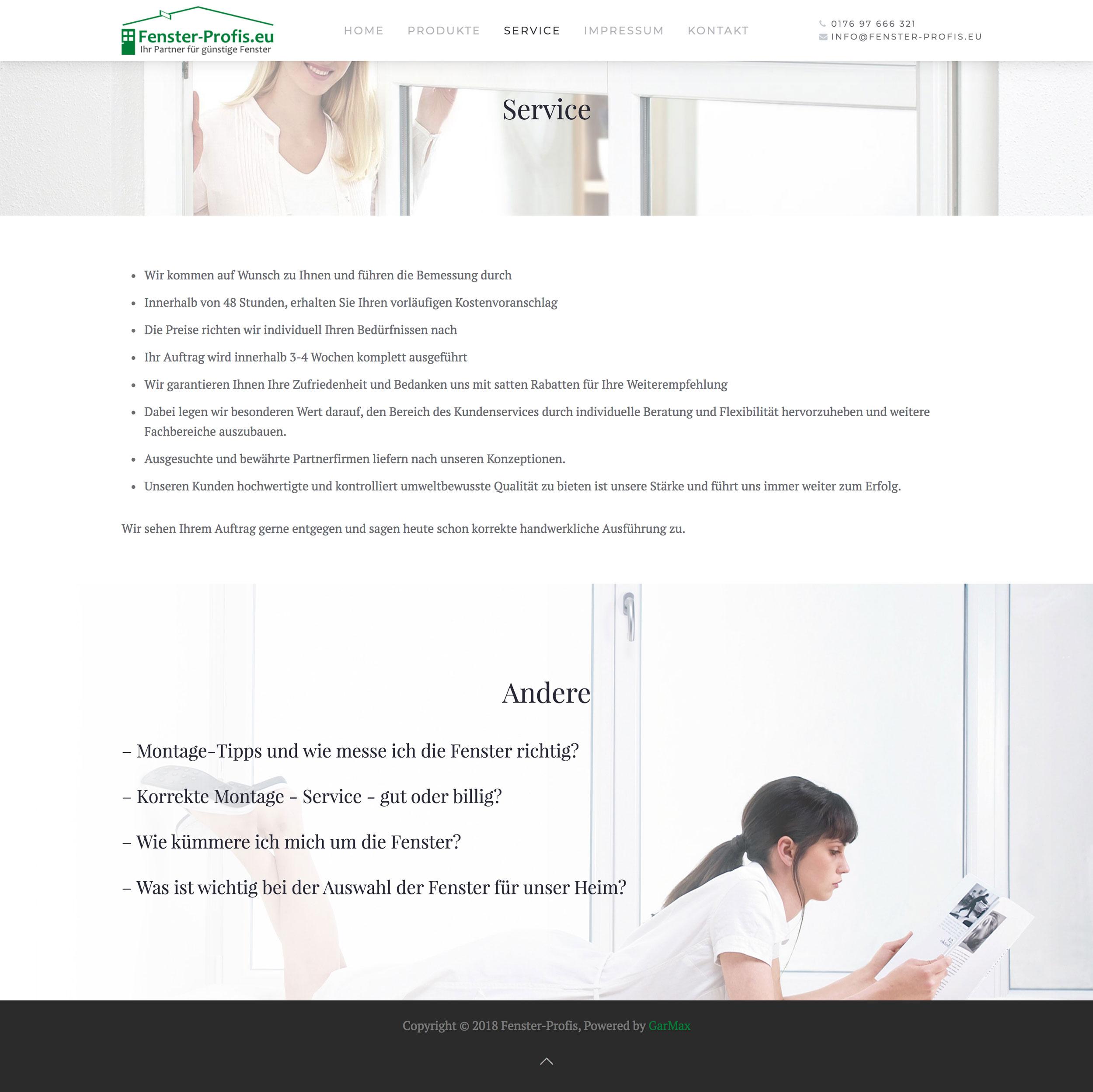 Fenster-Profis - Usługi