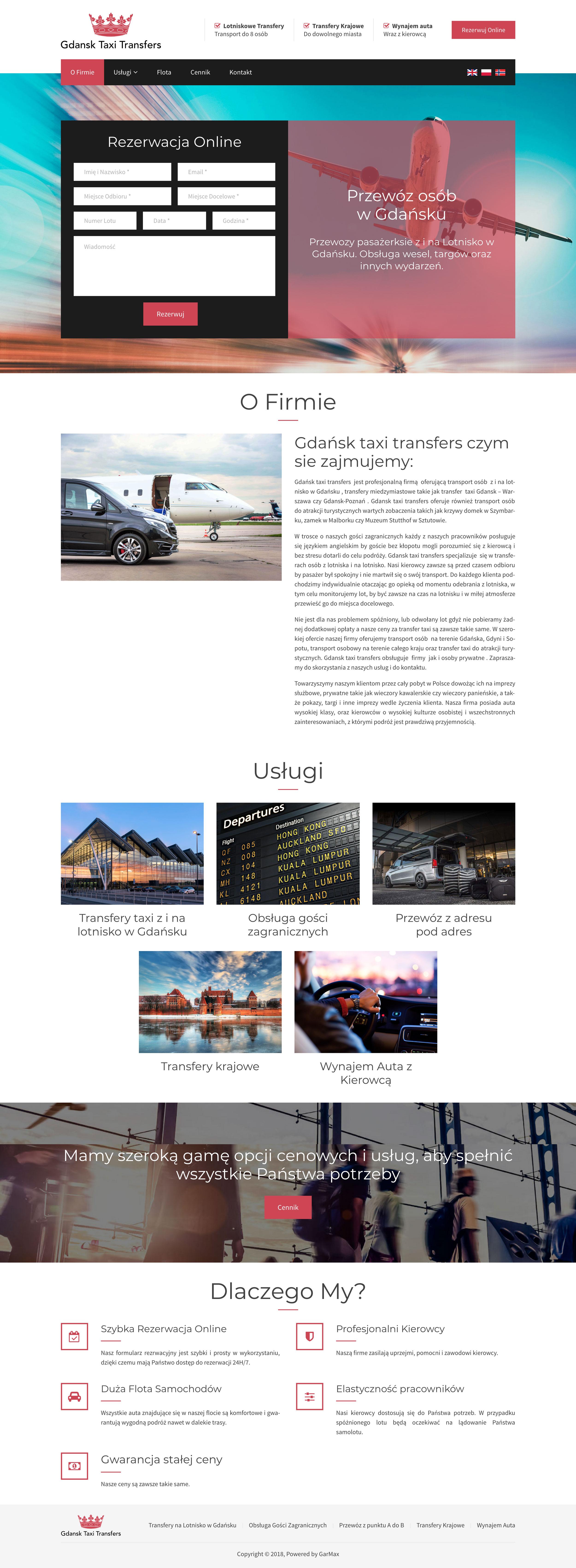 Gdańsk Taxi Transfers - Strona Główna