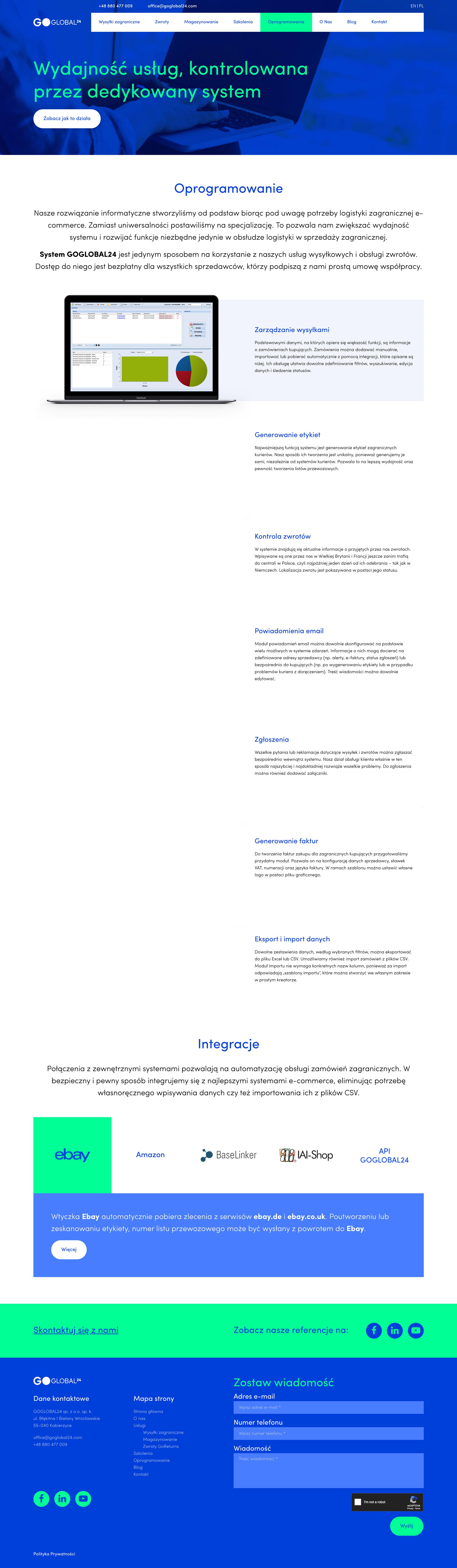 GoGlobal24 - Oprogramowanie