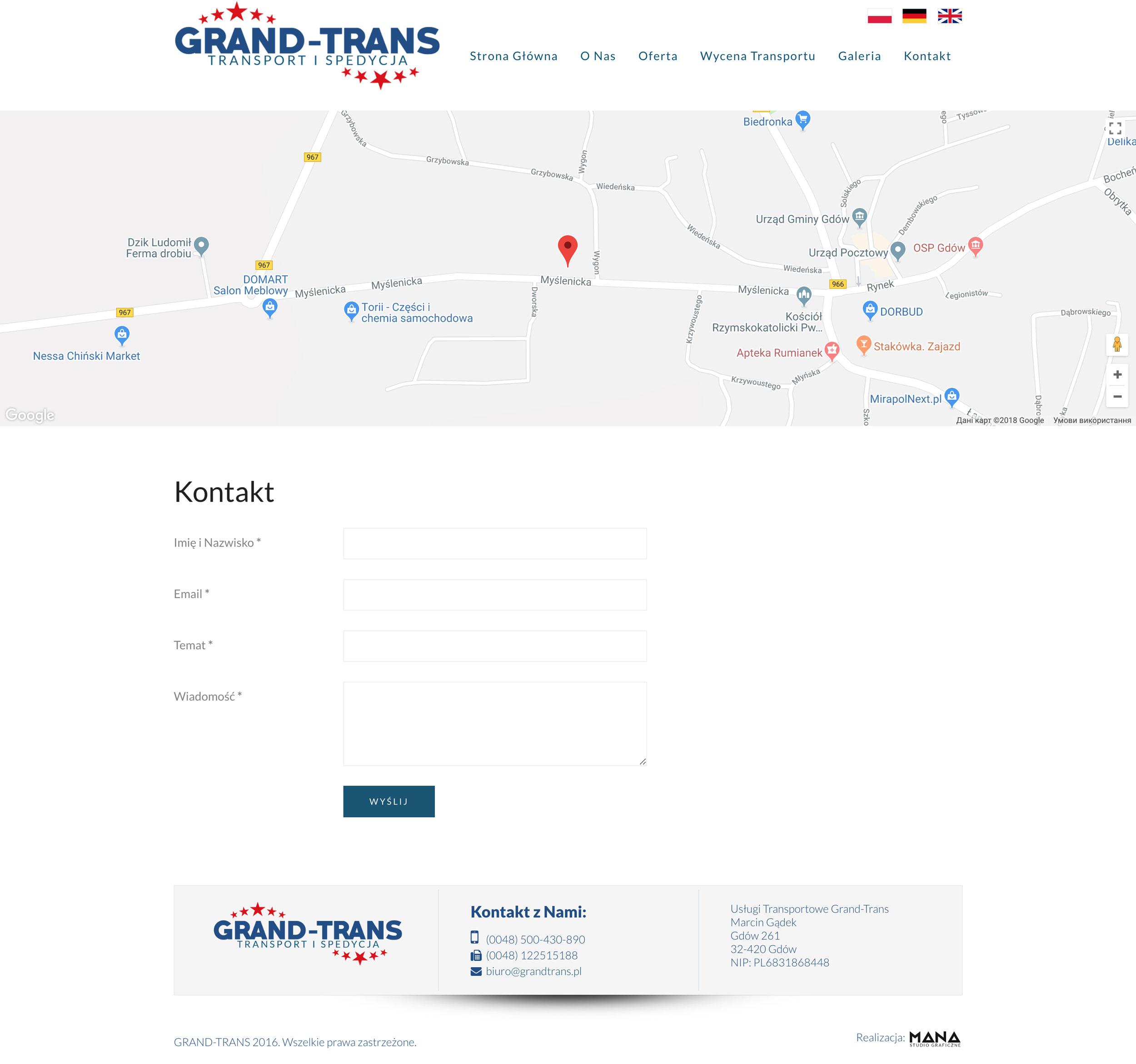 Grand-Trans - Kontakt
