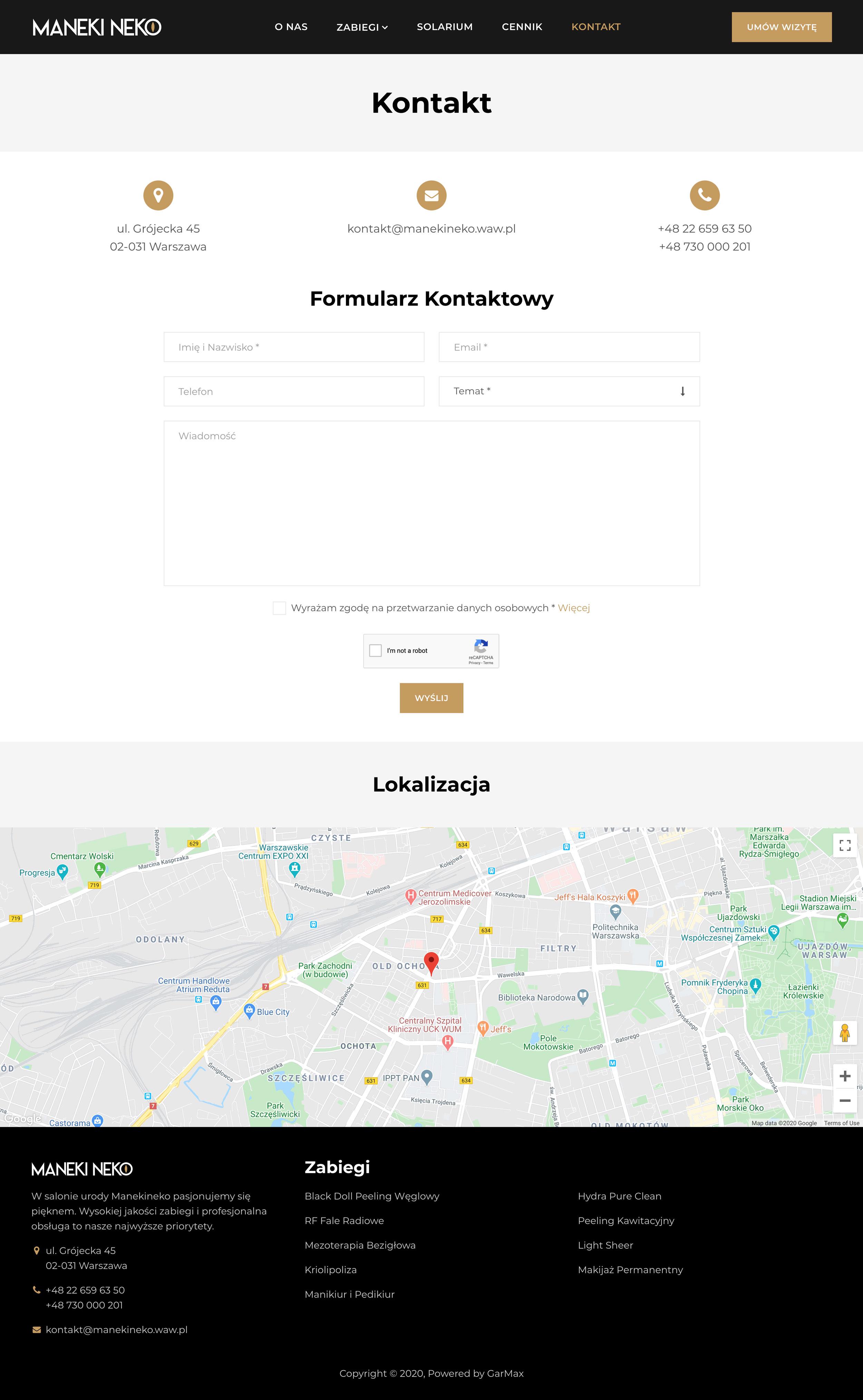 MANEKI NEKO - Kontakt