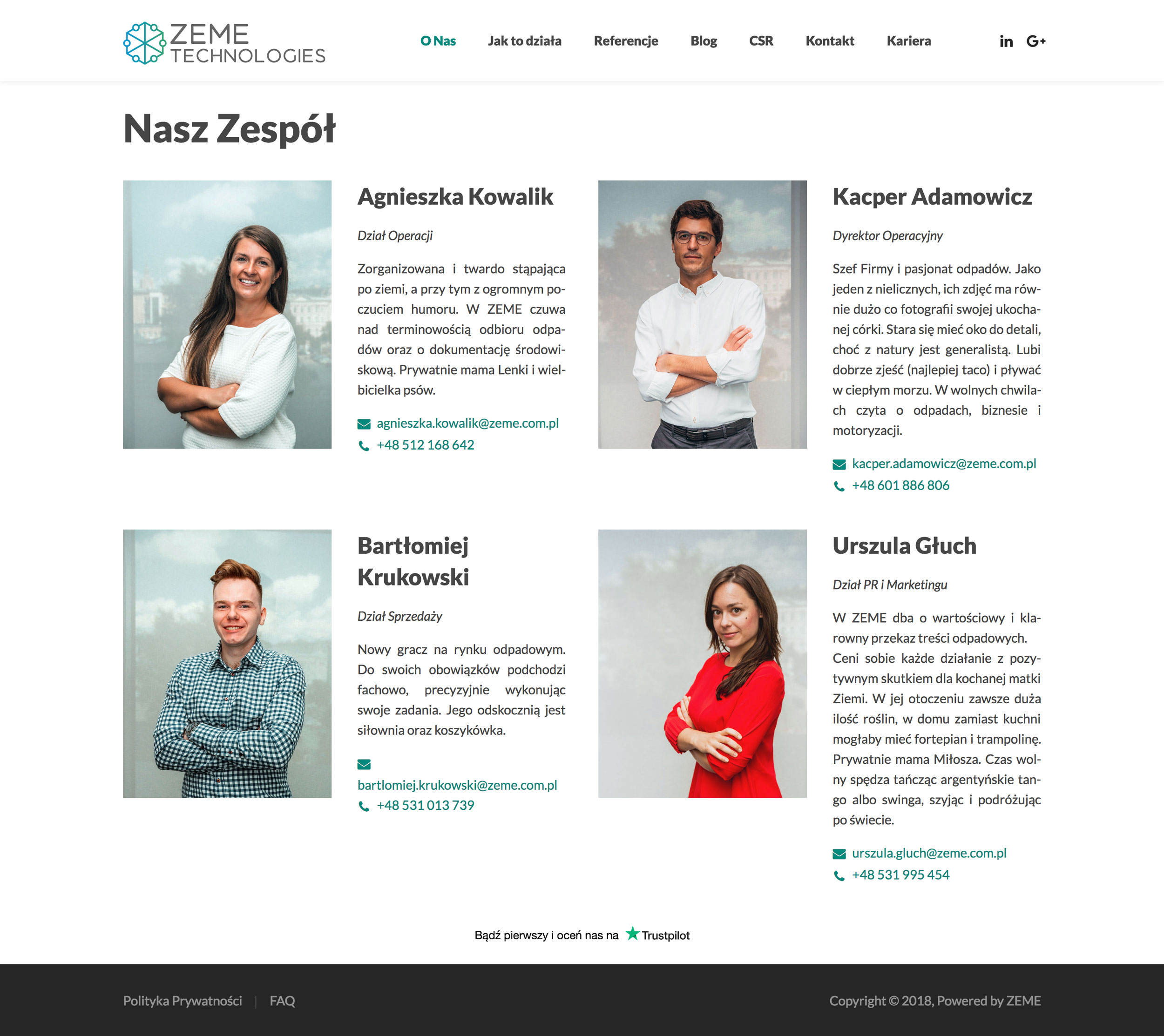 ZEME Technologies - Nasz Zespół