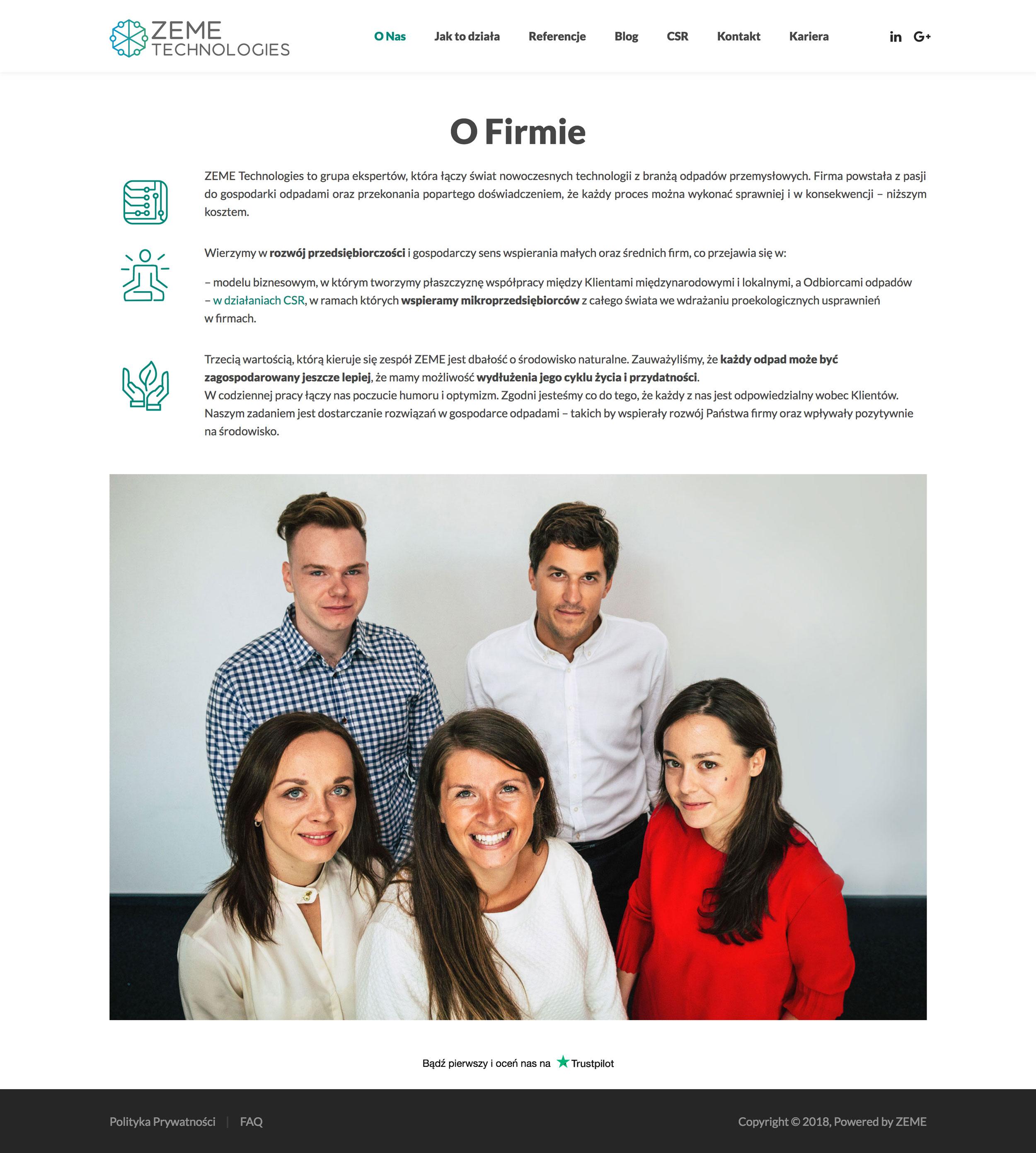 ZEME Technologies - O Firmie